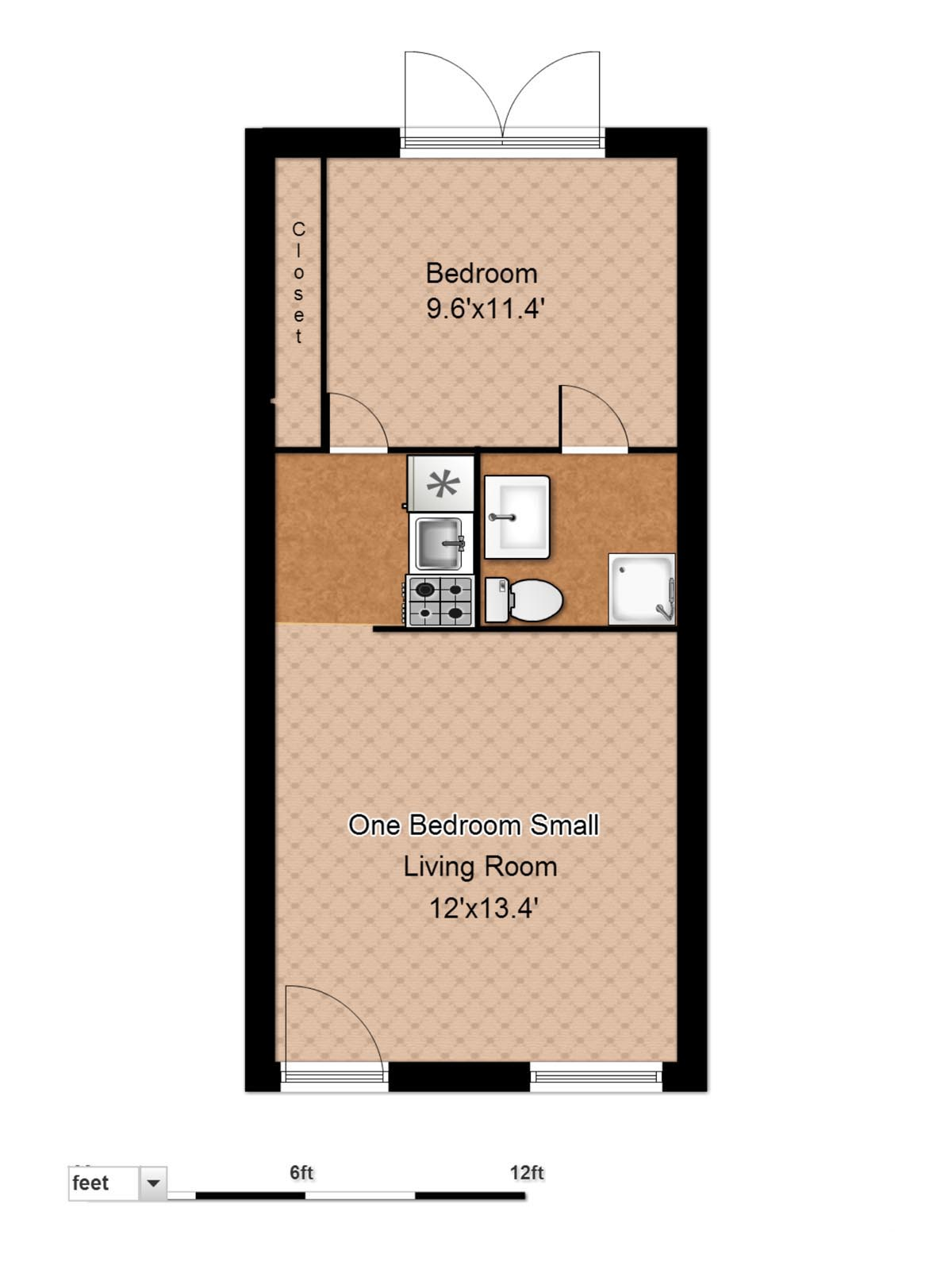Small Apartment Floor Plans One Bedroom floor plans - evergreen terrace apartmentsevergreen terrace apartments