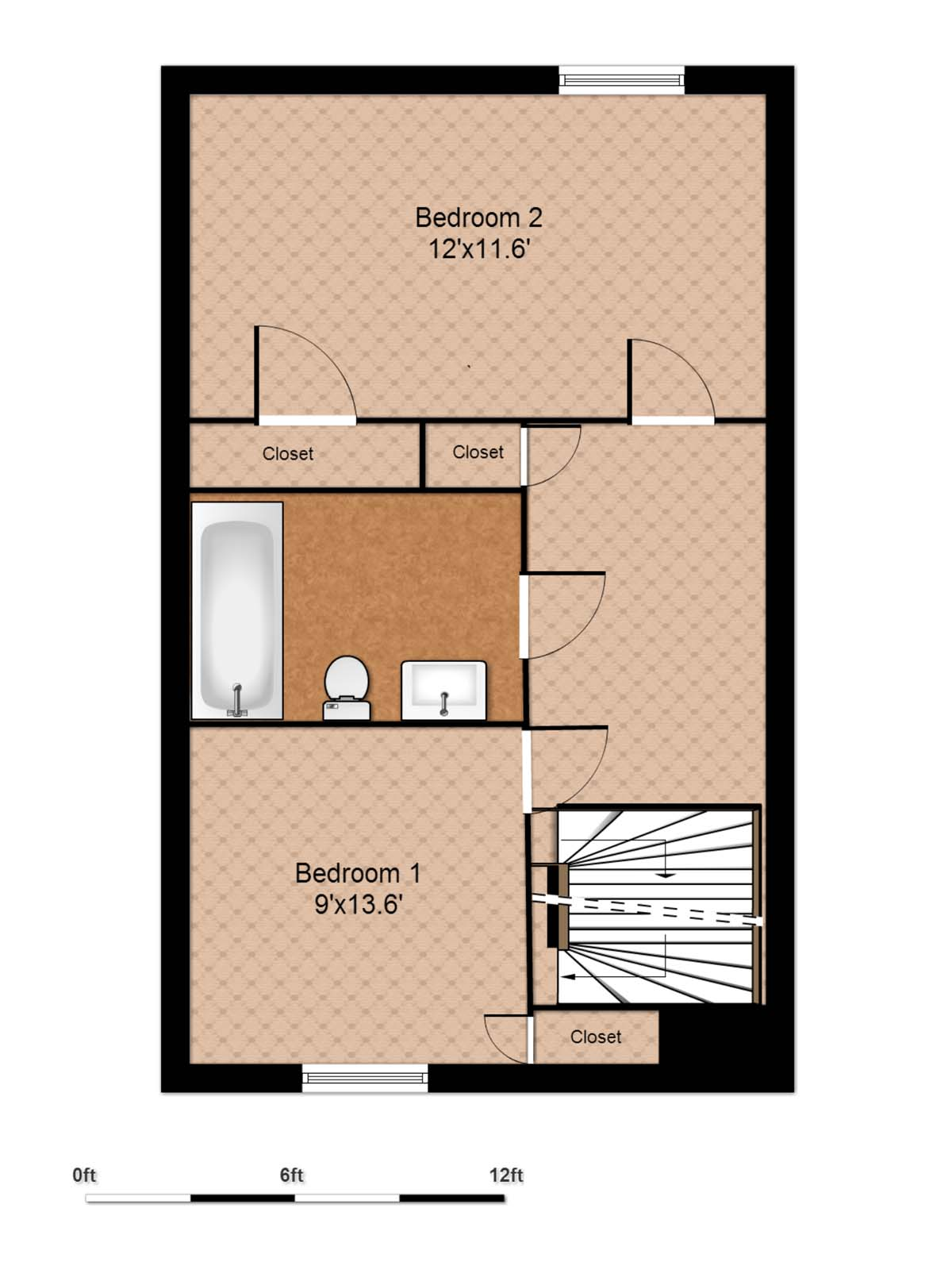 2 Bed TH UP-1200